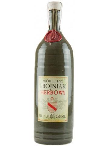Miód pitny Pasieka Jarosa Trójniak Herbowy 0,75l Ceramika