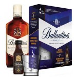 BALLANTINE'S FINEST 0.7L/BALLANTINE'S 7YO BOURBON FINISH 0.05L/SZKLANKA