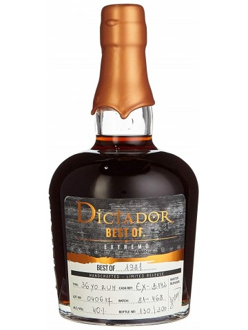 Dictador Rum Best of 1981