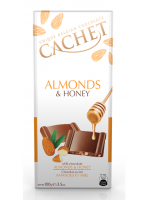 Czekolada Cachet Milk Almonds Honey 100g