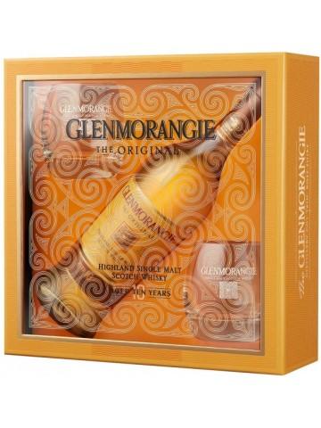 GLENMORANGIE 10 YO WHISKY + SZKLANKI