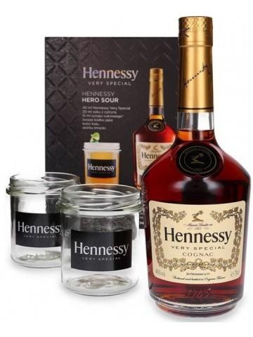 Hennessy VS, Gift pack ,2x słoiczki(szklanki)