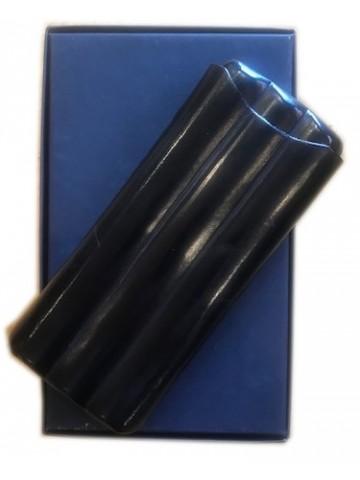 Skórzane Etui na cygara Savinelli Leather Case for Cigars czarny lub brąz (na 3 cygara)