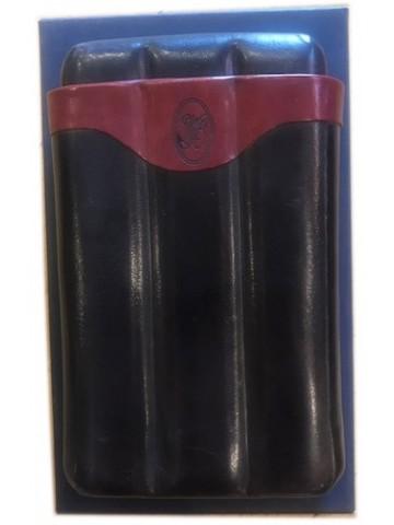Skórzane Etui na cygara Savinelli Leather Case for Cigars (na 3 cygara)