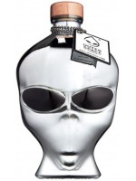 Alien Head OuterSpace Chrome Edition Wódka Ufo