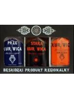 Zestaw Upominkowy Wódek Regionalnych / Prze Kurnwica / Stara Kurnwica / Kurnwica /3x100