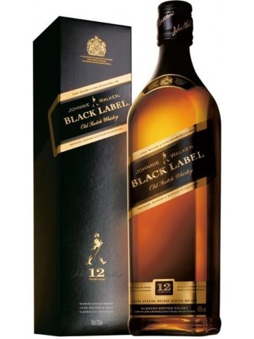 Johnnie Walker Black Label 12 Years Old 1 litr